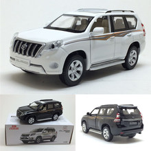 High simitation 1:32 TOYOTA LAND CRUISER PRADO Alloy Metal Car Model Toys With Pull Back For Kids Birthday Gifts free shipping(China)