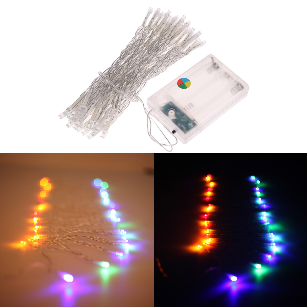 4M AA Battery Powered Mini 40 LEDs String Fairy Lights Multi-Color Light for Christmas Party Festival Decoration Light