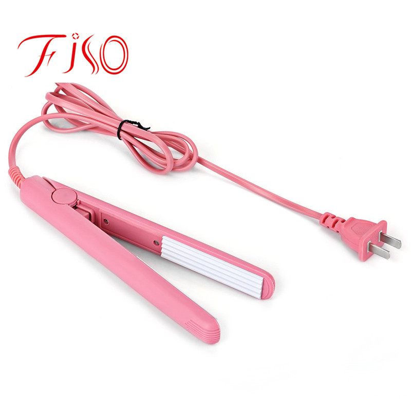 2017 Hot Selling Mini hair Corn Iron Pink Ceramic Electronic Straightening corrugated Iron styling tools mini curls hair straightener flat iron fast warm up ceramic electronic titanium straightening corrugated curling styling tools