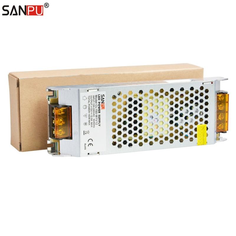 все цены на SANPU Switch Mode Power Supply 24 Volt DC 150 Watt 6 Amp AC-DC Lighting Transformer 24V LED Driver for LEDs Indoor Lights Strips онлайн