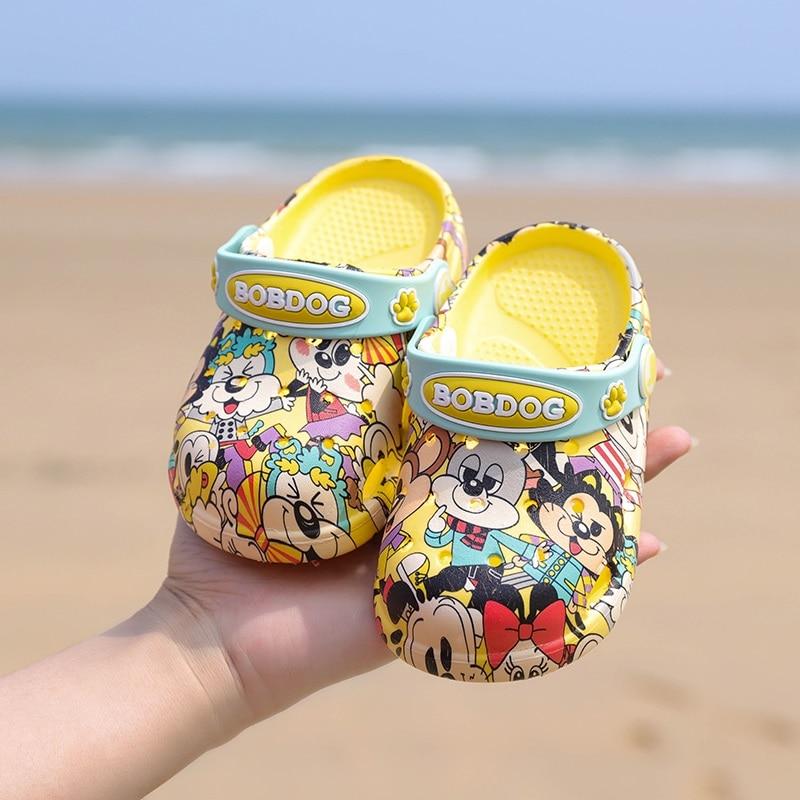 1-3 years2019 Fashion Boy Girl Beach Slippers Children Sandals Summer Cartoon Kid Shoes EVA Resistance Breathable Antislip Baby