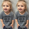 Enfant Kids Boys Girls Clothing Cotton Toddler Baby Boy Girl T-shirt Tops Letter Print Summer Casual Tee 1-6Y
