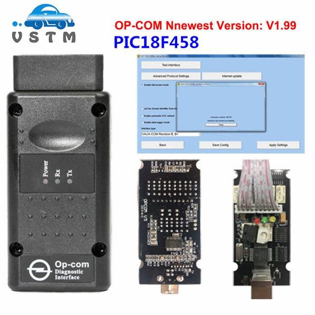 OPCOM V1.99 עם PIC18F458 OP COM V1.59 FW OP-COM V1.59 V1.7 OPCOM V1.78 FW עבור אופל COM OPCOM OBD2 סורק אבחון-כלי