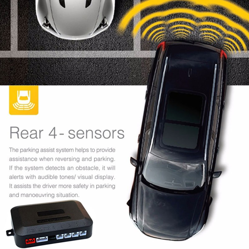 Автомобильный парковочный сенсор обратный резервный радар ЖК-дисплей 12 В 4 сенсор s 22 мм зуммер авто детектор системы комплект для всех автомобилей