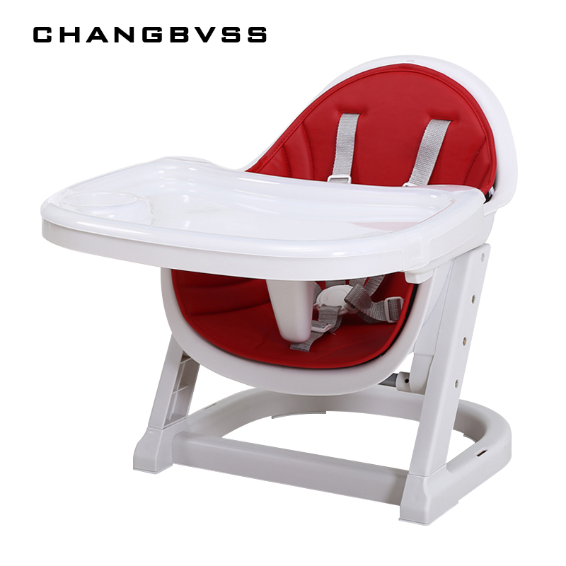 2017 Portable Baby Infant Kids Dining Feeding Chair Two Layer Plates Baby High Chair Safety Plastic