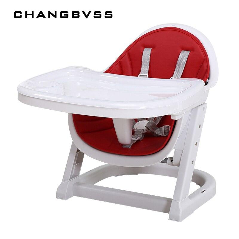 2017 Портативный для малышей Дети обеденный стульчик для кормления два Слои пластин детский стульчик безопасности Пластик стульчик для 6- 72 м ...
