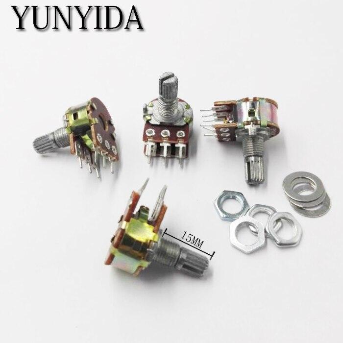 Усилитель WH148 B10K, 6 футов, 6 Pin вал, WH148, двойной стерео потенциометр, 1K, 5K, 10K, 20K, 50K, 100K, 500K, 5 шт.