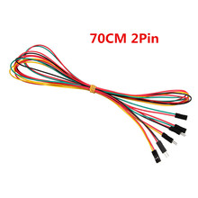 70cm 2pin 20Pice/Set Breadboard Jumper Wires AWG26 M-M Male to Female F-F 2.54mm DuPont Cable Line for UNO R3  Kits