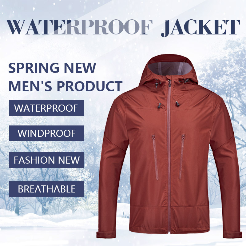 Mens Outdoor Waterproof Breathable Jacket Windproof and Rainproof Hooded Jacket for Mountaineering Hiking Camping Male SoftshellMens Outdoor Waterproof Breathable Jacket Windproof and Rainproof Hooded Jacket for Mountaineering Hiking Camping Male Softshell