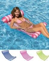 Streifen Wasser Hängematte Liege Pool Float Aufblasbare Luft Matratze Schwimmen Pool Ausrüstung Schwimmen Zubehör|Hängematten|   -