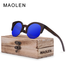 MAOLEN 2017 New Wood Sunglasses Women Polycarbonate Lens  Sun Glasses UV400 Protective Shades New Design Eyeglasses Sunglass