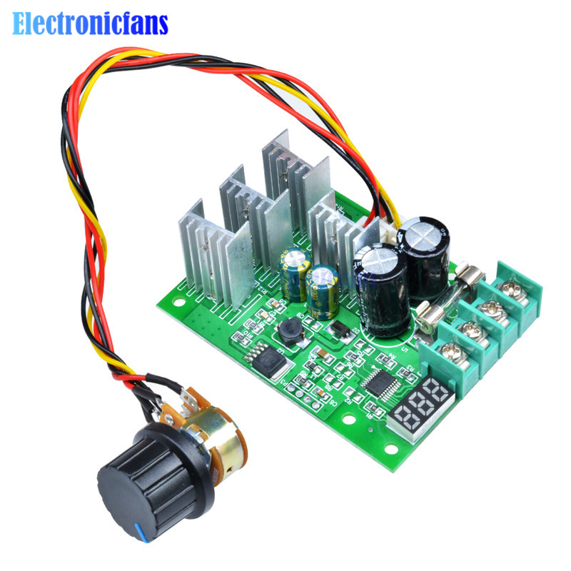 Active Components Electronic Components & Supplies Display Dc6-60v Reasonable Price 30a Pwm Motor Speed Controller Module Dimmer Current Regulator