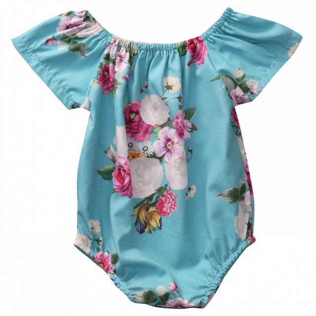 730ea5477 Baby Girls Floral Romper Newborn Infant Clothing Girls Summer Spring ...