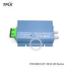 10 шт. FTTH OR20 Высокое качество FTTH OR20 CATV волоконный приемник AGC Micro SC APC дуплексный разъем с 2 выходными портами WDM