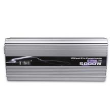 TBE 5000 Вт автомобильный инвертор модифицированная Синусоидальная волна 12 в 24 В к 220 В Инвертор автомобильный преобразователь мощности инвертор пиковая мощность 10000 Вт