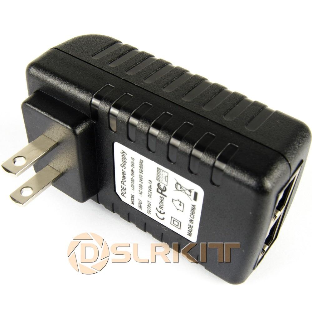 DSLRKIT Gigabit 24V PoE Injector Adapter Ubiquiti UAP AC LR LITE POE-24 12W-G 24W-G 7W-G