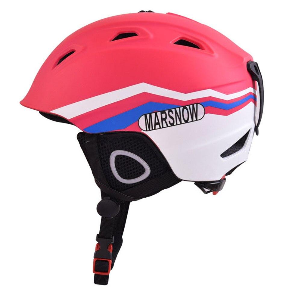 Casque de Ski sans lunettes casque de Snowboard hommes/femmes/enfants motoneige moto Skis/masque de traîneau hiver neige polaire chaude