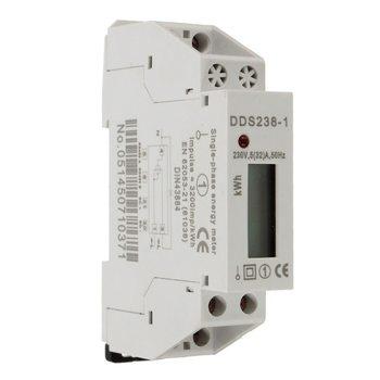 Nueva pantalla LCD DDS238-1 5 (32) A 230 V 50 HZ/60Hz monofásico carril tipo electrónico Mini contador de energía eléctrica