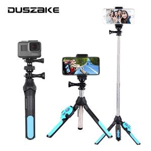 Image 1 - DUSZAKE Palo de Selfie inalámbrico con Bluetooth, trípode para Xiaomi, monopié para teléfono, Mini palo de Selfie, para iPhone y Xiaomi