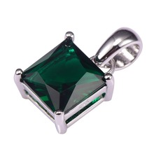 Hot Sale Simulated Emerald Pendant 925 Sterling Silver Free Shipping Newest Fashion Attractive Jewelry Pendant PP47