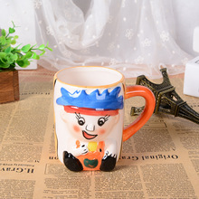 3D stereo creative hand painted cartoon lovely child mug office large ceramic cup children drinkware Christmas gift