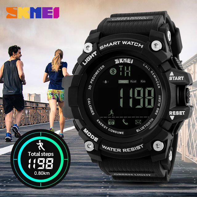 Men's Digital Smart Watch Pedometer Calories Chronograph 50M Waterproof