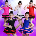 Lace Latin Dance Dress For Girls Competition Latin Dress For Girls Children Dancing Dress Kid Girl Cha-Cha Dance Costumes