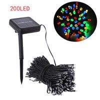 22M 200 LED Solar Strip Light Outdoor Lighting Solar Led String Fairy Lights Waterproof For Wedding
