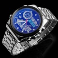 2016 ASJ Luxury Brand Men Watch, masculino Reloj Deportivo de Acero Lleno, resistente al agua Alarma Cronógrafo Analógico digital Reloj de Pulsera