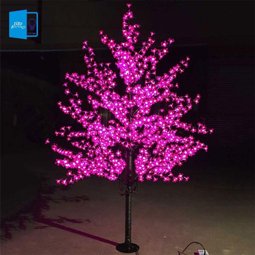 Decorador de arboles de navidad 187 home design 2017 - Lujo Hecha A Mano Artificial Flor De Cerezo Del Led Luz De La Noche De Navidad