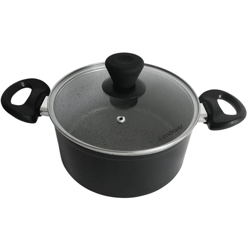 Saucepan with lid Endever Stone-Grey-24C (4 L, bottom diameter 24 cm., cast aluminum, четырехслойное ceramic non-stick coating, Suitable for all kinds of board) 125mm diameter cast aluminium bracket for cnc engraving milling machine spindle