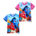 cartoon kids causal t-shirt lovely finding cute dory cotton Summer tops t-shirt for 3-10yrs children boys girls shirt clothes