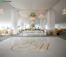 Custom Made Wedding Stickers Dancing Floor Sticker Personalized Name Party Floor Decals Removable Monogram Mural ZA102A