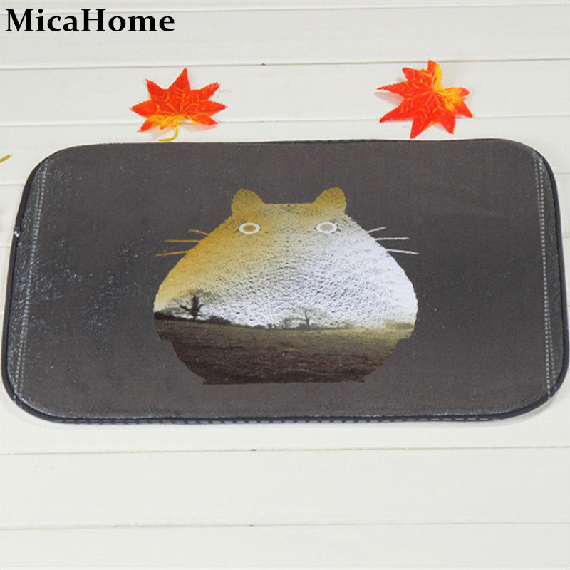 Bathroom Carpet Mats Anti-slip Coral Velvet Rug Shower 40x60cm Dark Chinchilla Bath Kitchen Doormat for Home Decoration