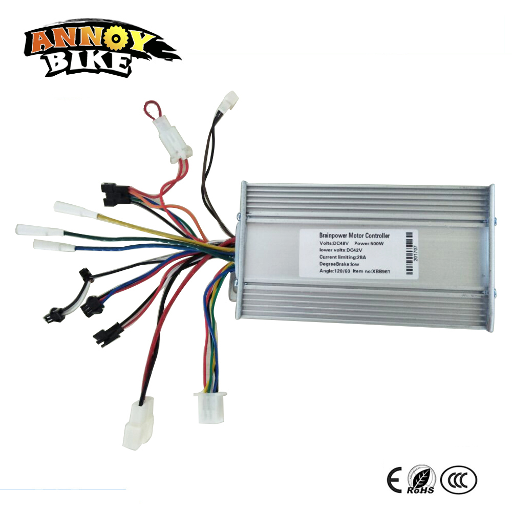 800w 500w 24v 36v 48v Mofset Brushless Motor Controller E Bike Electric Wiring Scooter Bldc With Regenerative And Reverse Function