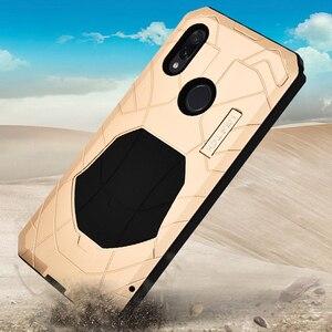 Image 2 - Robuuste Case Voor Xiaomi Redmi Note 7 Shockproof Heavy Duty Armor Hard Rubber & Aluminium Metal Cover Xiaomi Redmi Note 7 Pro Case