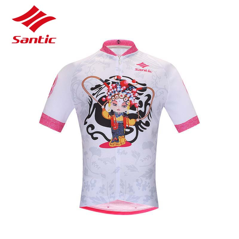 Bike Jersey Santic Sportswear Shirt Clothing Bicycle Ropa-Ciclismo Summer Girls Breathable