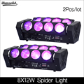 新到着 8 × 12 ワット LED スパイダーライト RGBW DMX512 サウンドコントロールディスコライト 2 ピース/ロット