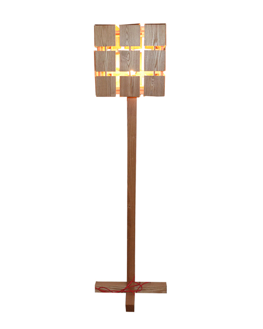 EMS Free Shipping Floor Lamps LED Rustic Wooden Handmade Magic Cube Shaped Standing Lamp For Home
