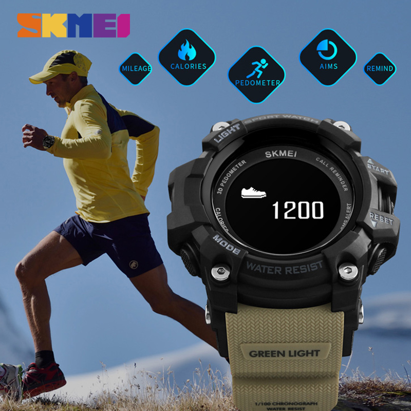 Bluetooth Smart Watch Men Heart Rate Sport Pedometer Calorie Top Luxury Brand Digital Smart Wristwatch For Iphone IOS Android image