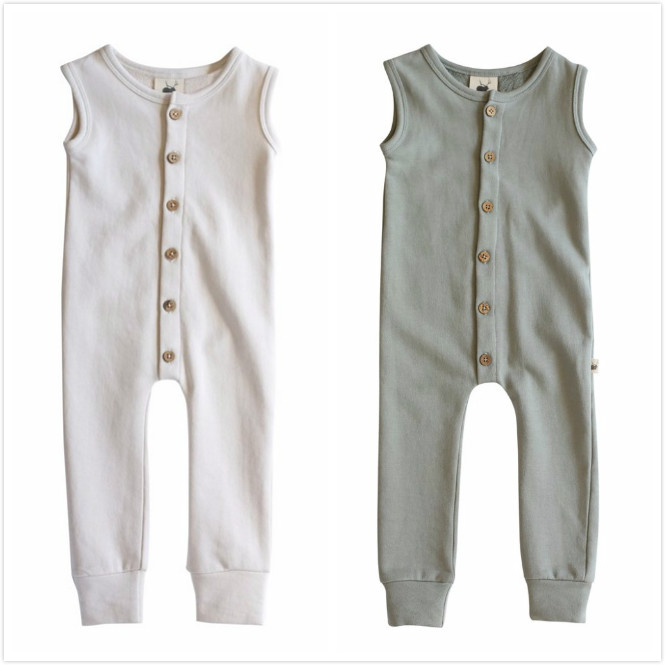 Owligbaby 2019 new spring autumn round neck sleeveless simple Siamese baby solid pure romper 133TP0626Owligbaby 2019 new spring autumn round neck sleeveless simple Siamese baby solid pure romper 133TP0626