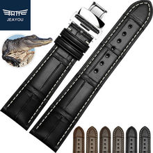 JEAYOU Real Alligator Hand Made Watchband For Piaget Breguet VC PP Men 18 19 20 21