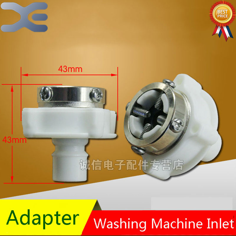 1Pcs Automatic Washing Machine Water Inlet Adapter Washing Machine Faucet Original Washing Machine Spares 1 2 built side inlet floating ball valve automatic water level control valve for water tank f water tank water tower