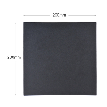 3D Printer bed 1pc 200 * 200mm Adhesive Heat Bed Tape Sticker Build Surface Cover Square Sheet Black 3D Printer bed image