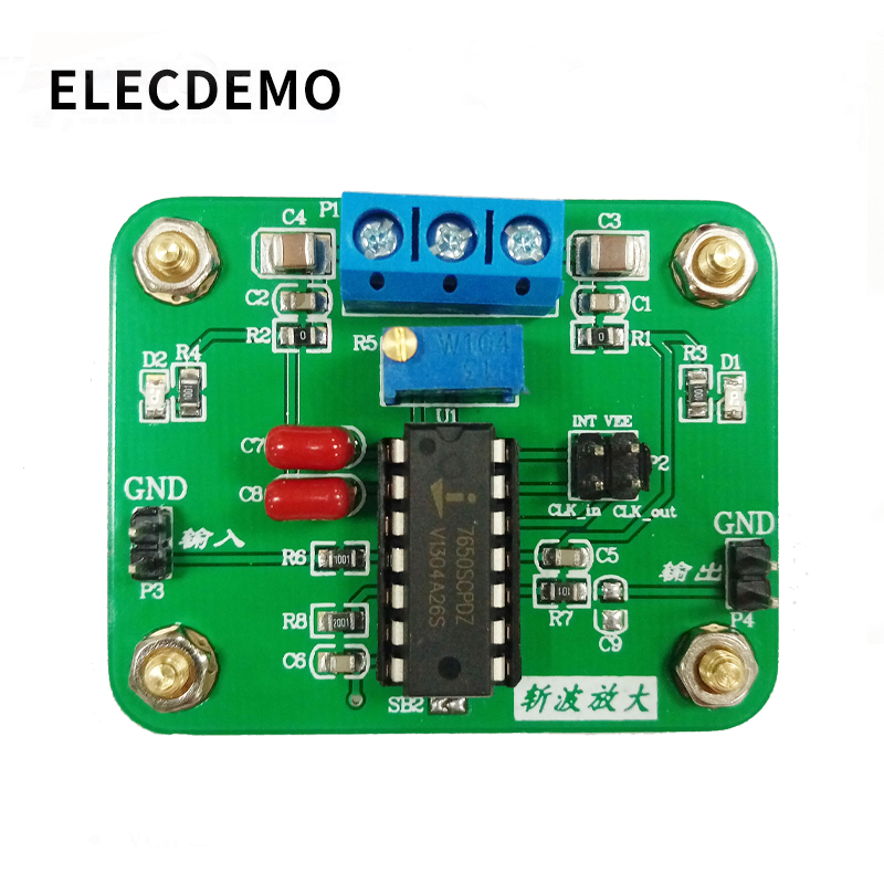 ICL7650 Chopper Stabilized Operational Amplifier Module 2MHz Wide Bandwidth High Gain High Slew Rate in Demo Board Accessories from Computer Office