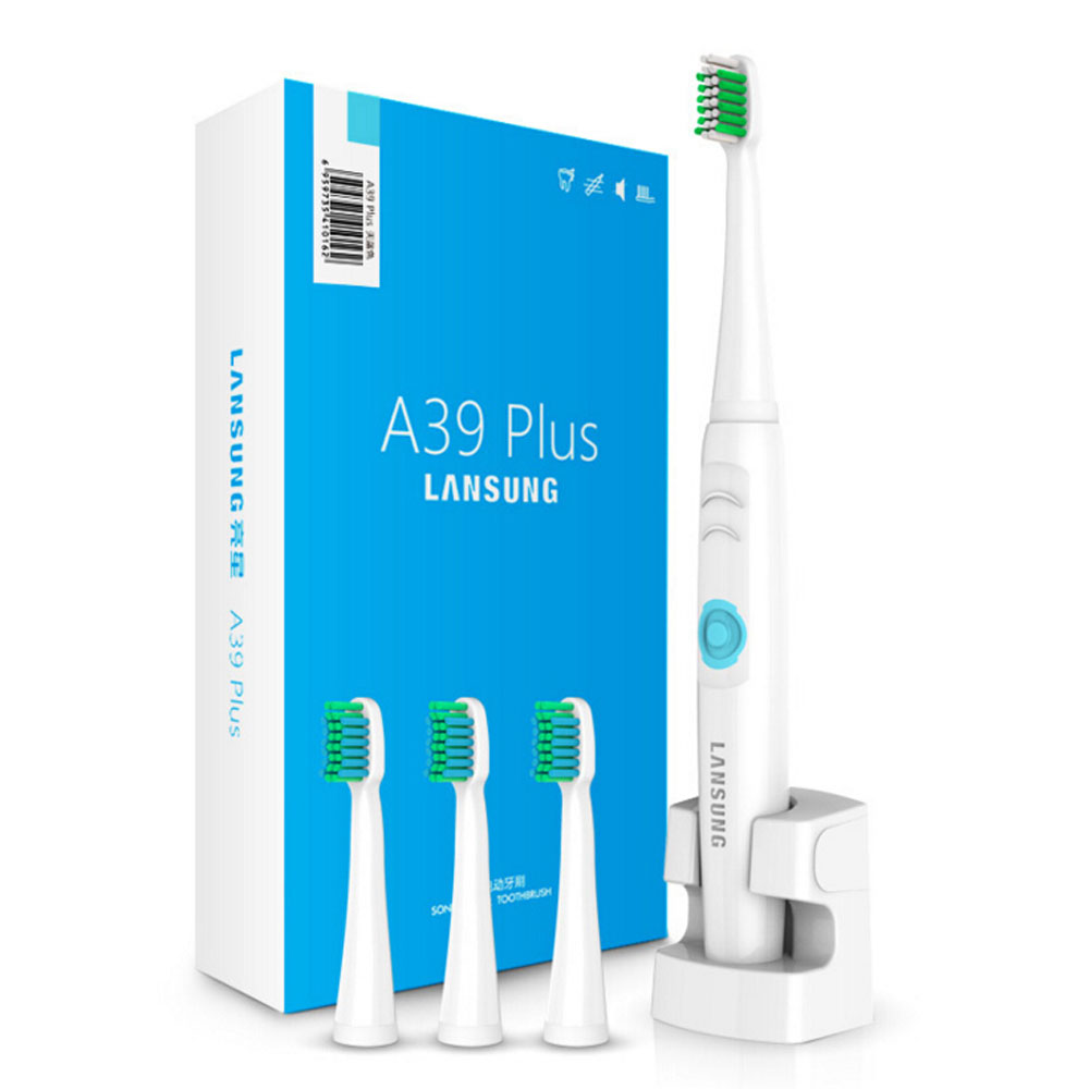 Wireless Chargeable Electric Toothbrush IPX7 Waterproof Ultrasonic Sonic Electric Tooth Brush with 4 Heads Teeth Brush 2pcs philips sonicare replacement e series electric toothbrush head with cap