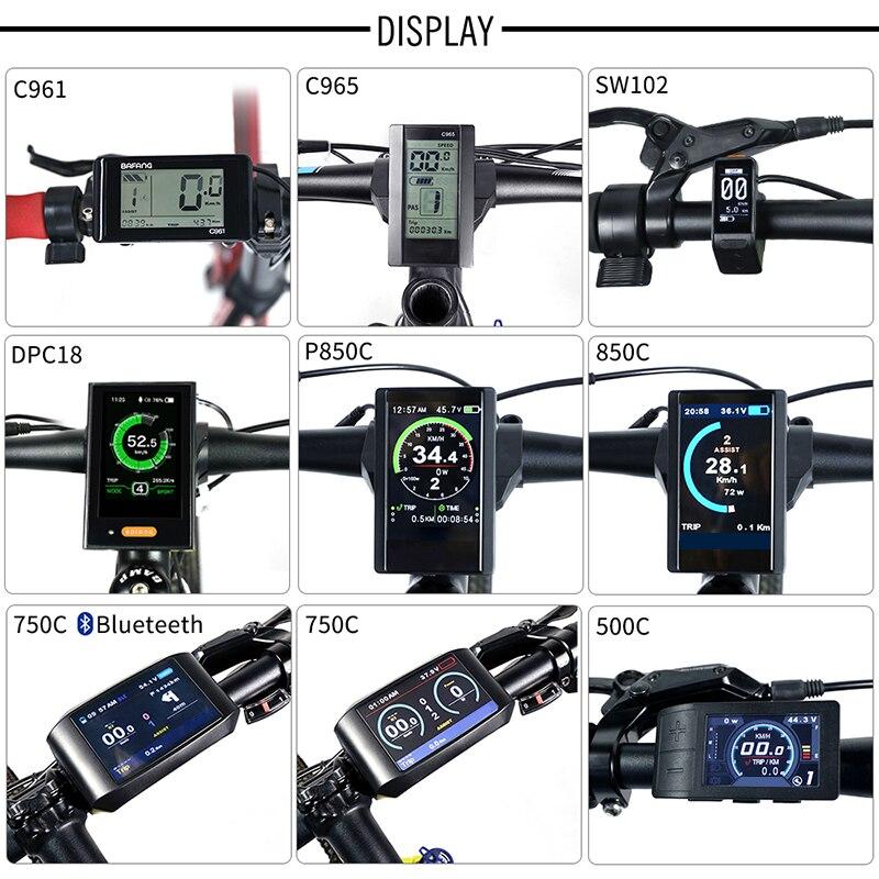 Electric Bike TFT Display DPC18 850C 500C SW102 C965 C961 750C Bluetooth for BAFANG BBS Mid