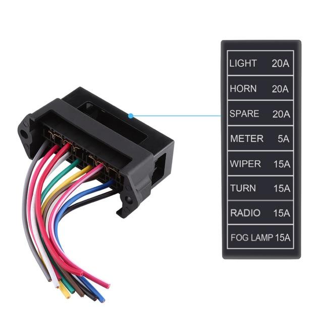 dc 32v 8 way circuit blade fuse box block holder atc ato for car rh aliexpress com