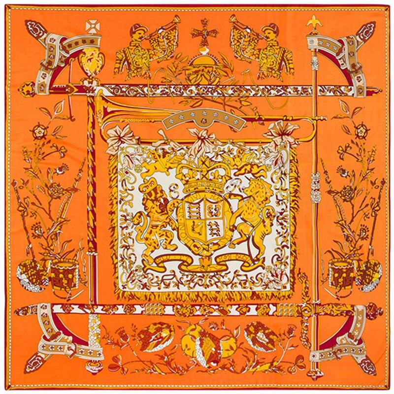 Bekleidung Zubehör Intellektuell 130 Cm 130 Cm Luxus Marke Popdance Print Silk Schal Für Frauen Stirnband Hohe Qualität Großen Quadratischen Schals Weibliche Köper Schals Attraktives Aussehen