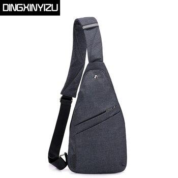 DINGXINYIZU Brand Anti-Theft Men's Messenger Bags Multi-pocket Sling  Shoulder Bags Casual Chest Pack Travel Crossbody Bags Male